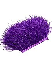 Plumas Flecos rosenice Fringe Trim para manualidades de costura para vestidos Disfraces Decoración 2 M (