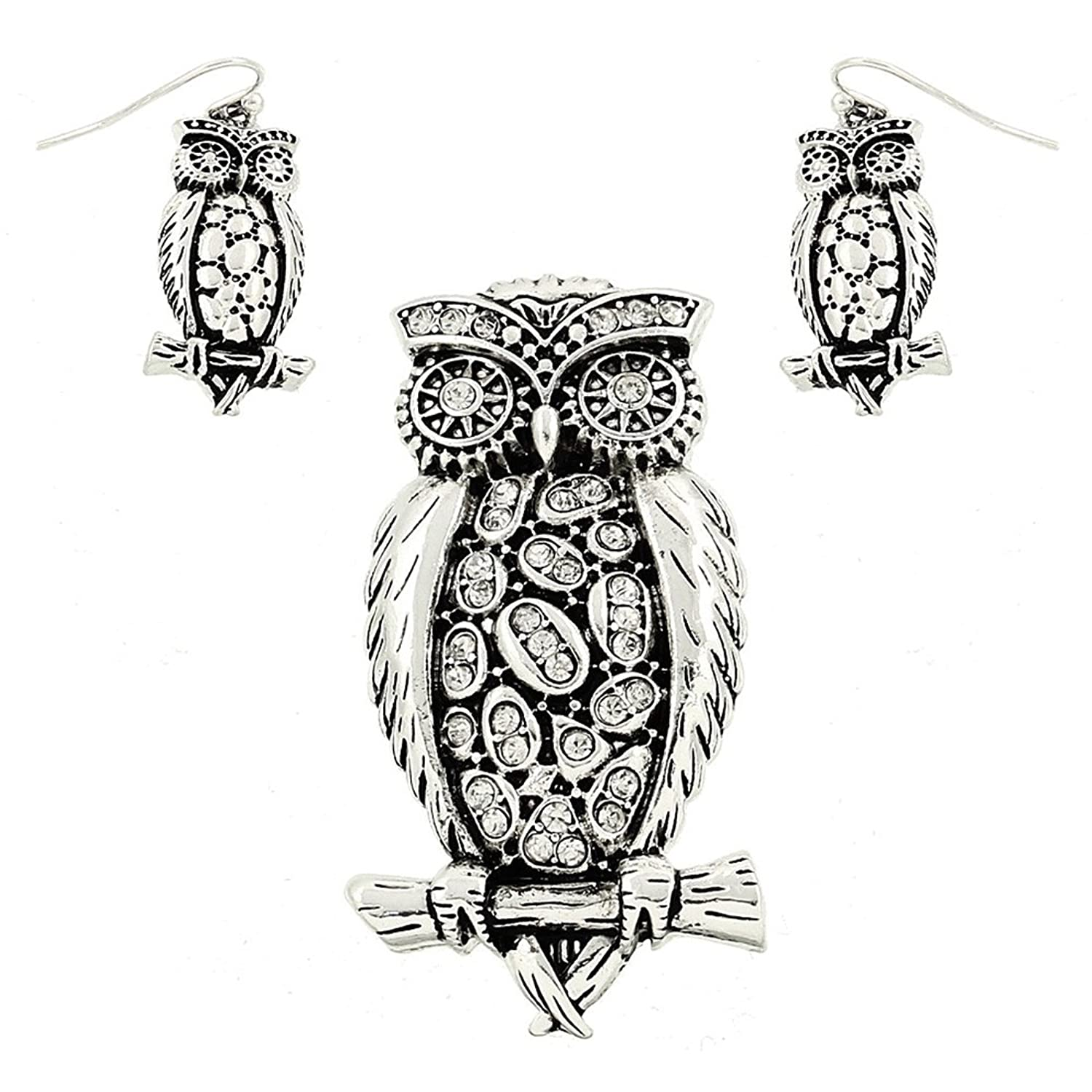 amazon silver color owl with rhinestone pendent with matching Schematics Romulan Bird of Prey amazon silver color owl with rhinestone pendent with matching earring set by jewels nine by serena jewelry