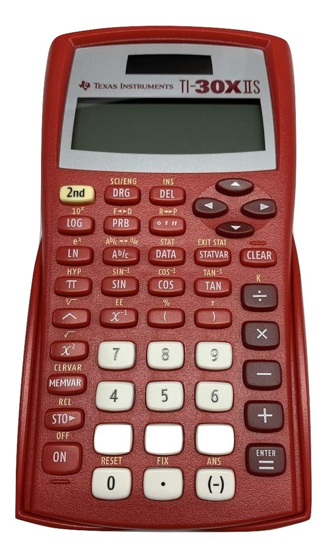 Texas Instruments TI-30X IIS Solar Scientific Calculator Solar Red by Texas Instruments