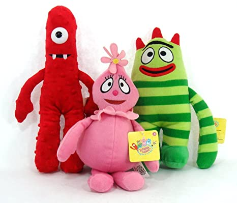(3 Piece Set) LARGE Yo Gabba Gabba Plush Doll Toy - BROBE MUNO &