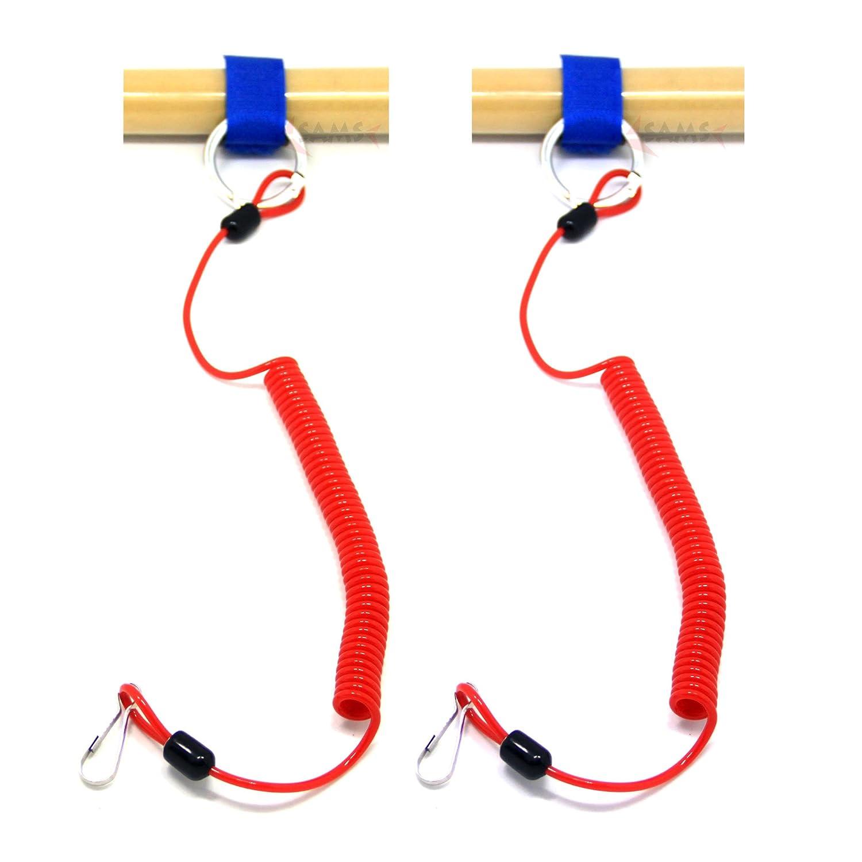 correas de seguridad espiral para remos de kayak y canoas para accesorios