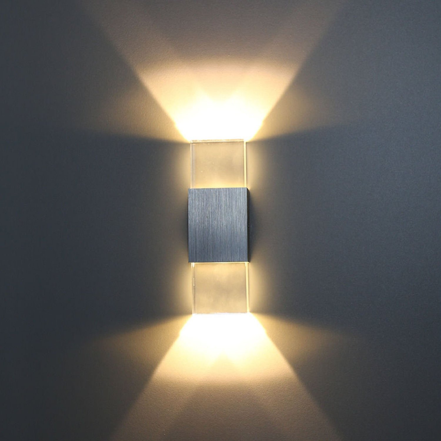 led wall sconce sunsbell wall lamp indoor up down ligting fixtures acrylic wall light amazoncom