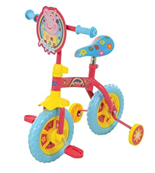 Peppa Pig 10 Inch 2 In 1 Training Bike