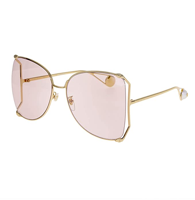 Gafas de Sol Gucci GG0252S GOLD/PINK mujer: Amazon.es: Ropa ...
