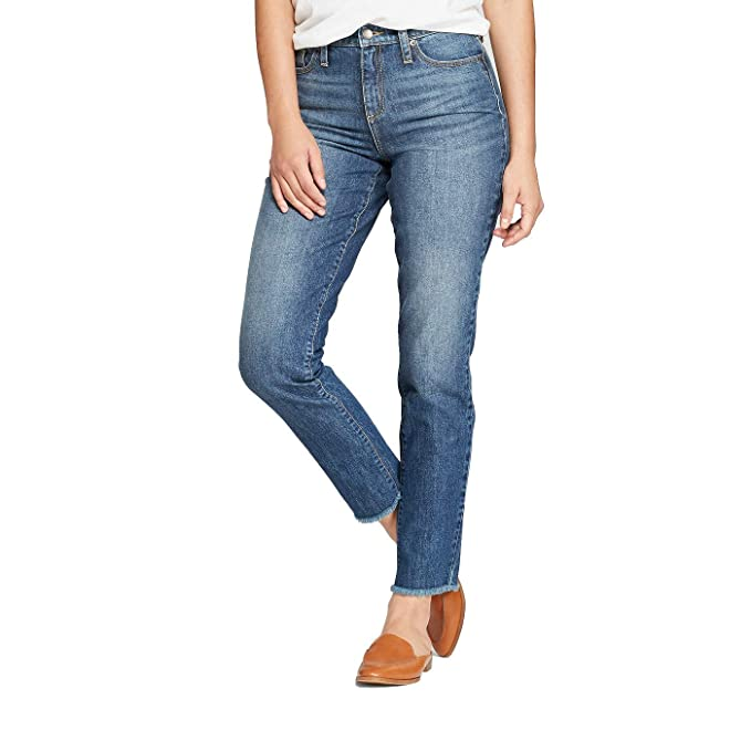 Universal Thread Womens High-Rise Straight Leg Jeans Dark Wash, Blue