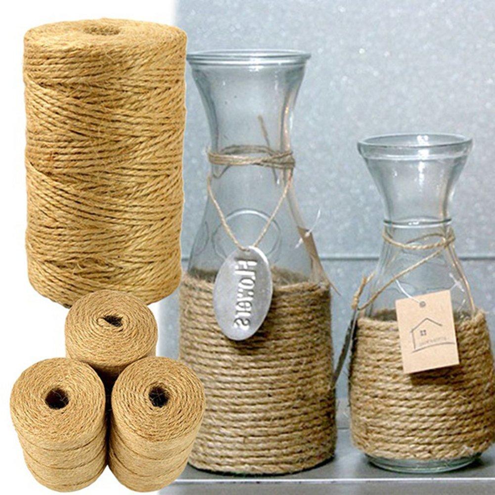 Hearsbeauty 100/m Ficelle de Jute Naturel 2/mm Corde Cordon D/écoration de Mariage Crafts F/ête/ /Marron
