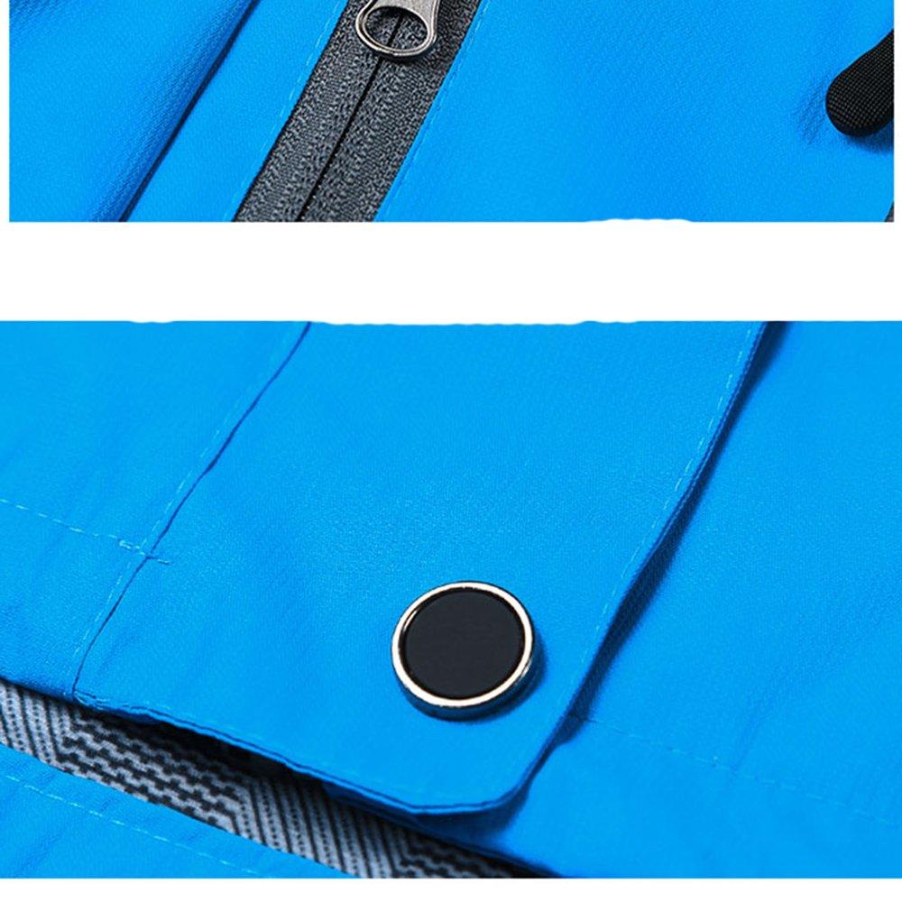 Tyraptor Herren Funktionsjacke Wasserdicht//Winddicht//Atmungsaktiv Outdoor Jacke /Übergangsjacke mit abnehmbrer Kapuze
