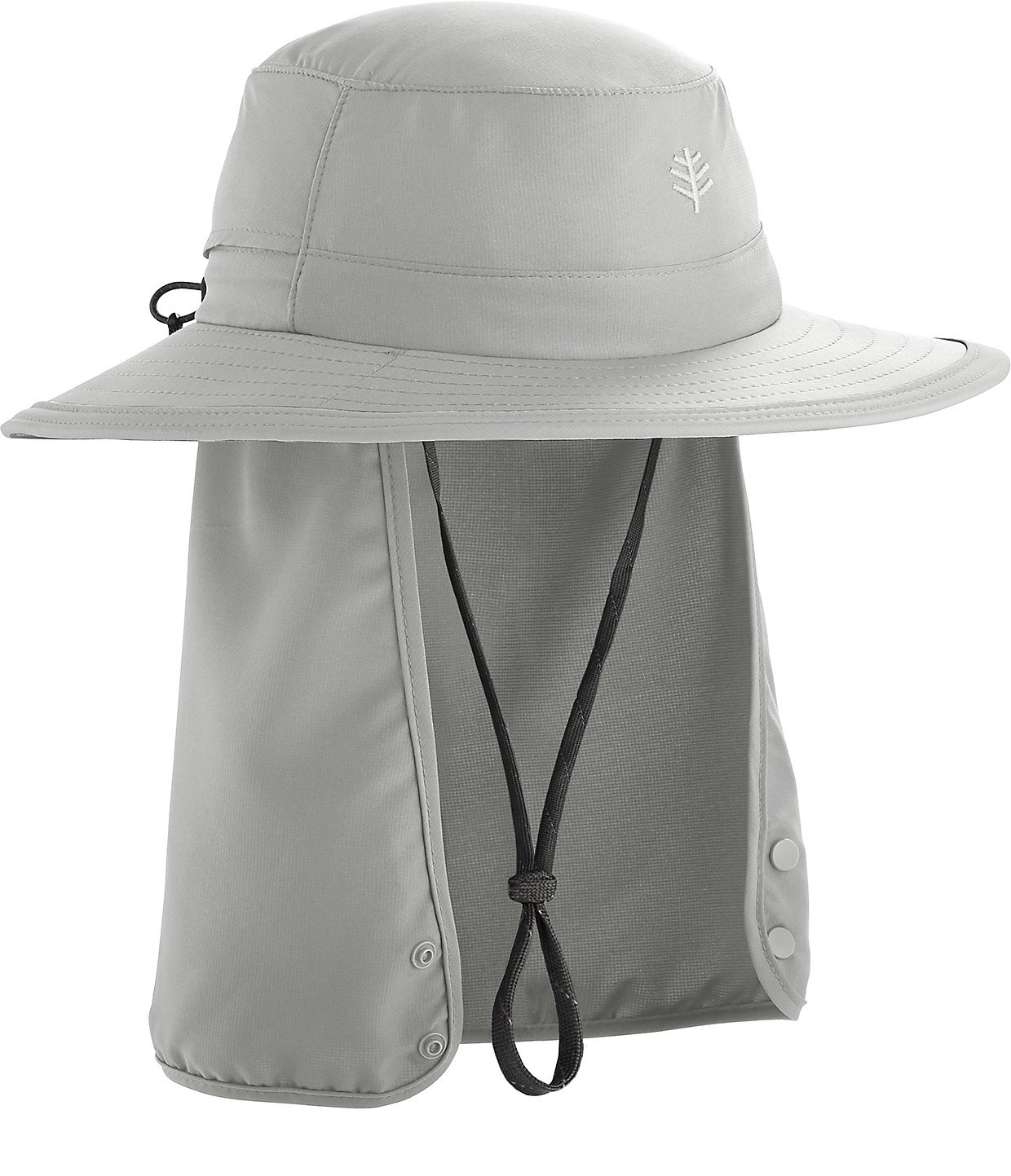Coolibar UPF 50+ Kids' Convertible Boating Hat - Sun Protective (Small/Medium- Light Grey) by Coolibar