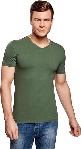 TALLA 52-54. oodji Ultra Hombre Hombre Camiseta Básica (Pack de 3)