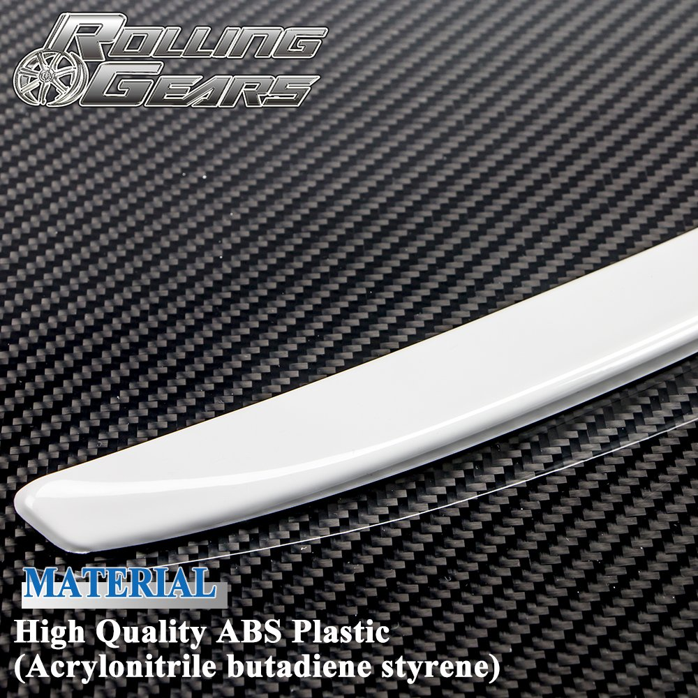 06-13 E92 ABS White Rear Spoiler Trunk Lid Wing 3ers M3 Coupe