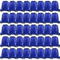 KUUQA 40Pcs Blue Drawstring Backpack Bags Sack Drawstring Bags Bulk String Backpack Storage Bags for Sport Gym Traveling
