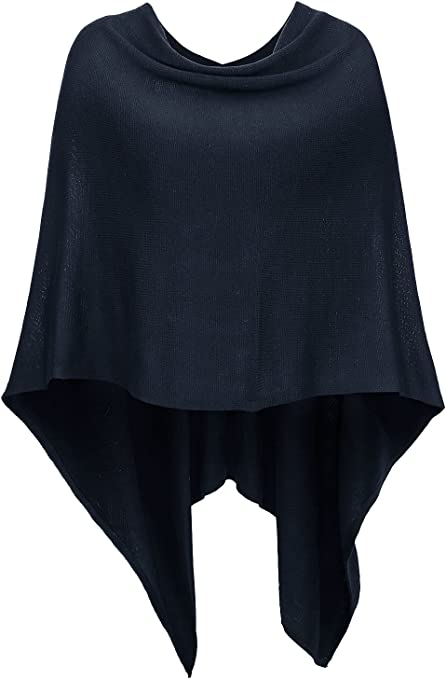 DJT-Chal y Poncho para Mujer Scarf Cape
