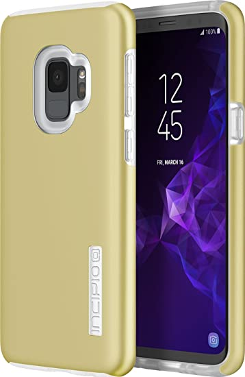 sports shoes db983 33510 Incipio DualPro Samsung Galaxy S9 Case with Shock-Absorbing Inner Core &  Protective Outer Shell for Samsung Galaxy S9 (2018) - Iridescent Rusted Gold