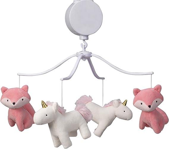 Bedtime Originals Rainbow Unicorn Musical Baby Crib Mobile