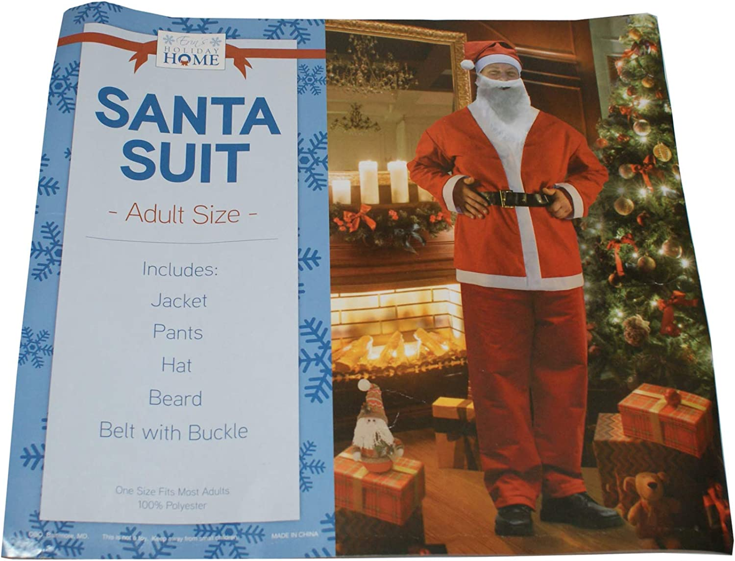 Erin's Holiday Home Santa Suit Red