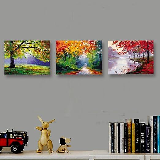 Nuolan Art   Framed Ready To Hang 3 Panels Modern Landscape Canvas Print Wall  Art   UK P3L3040 005: Amazon.co.uk: Kitchen U0026 Home