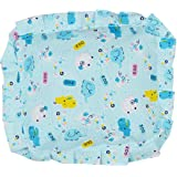 Sharma Clothing Baby Head Shaping Detachable Cotton Mustard Seeds Pillow for Easy Washing, Feeding and Nursing, (Blue)