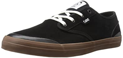 Mens Edmon Skateboarding Shoe, White Suede DVS