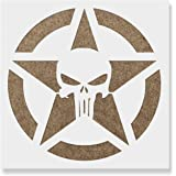 fd096ec14f6eb Amazon.com: The Punisher Stencil - Scary Horror Skeleton Skull ...