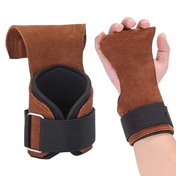 BestFire 1 Paire Gants Crossfit Manique Crossfit Gants Musculation -  protège de Poignets et Mains - 7f9c5f0672b