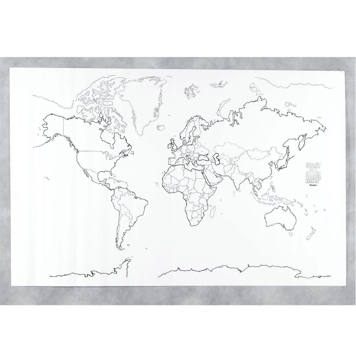 Amazoncom  PAC78770  GIANT WORLD MAP 48IN X 72IN  Wall Maps