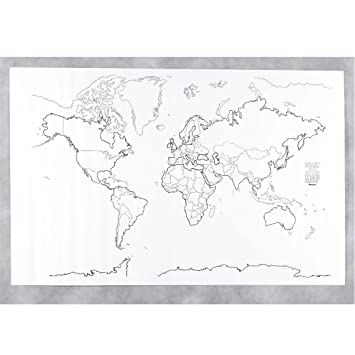 Amazon pac78770 giant world map 48in x 72in wall maps pac78770 giant world map 48in x 72in sciox Image collections