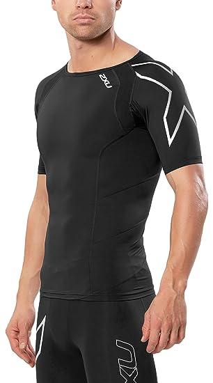 de50a06a72 Amazon.com: 2XU Men's Short Sleeve Compression Top: Sports & Outdoors