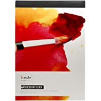 Etchr Lab A4 Watercolour Paper Block - 300 gsm (140 lbs), 20 Sheets - 50% Cotton Flat Lay Pad, Cold Press, Artist Grade…