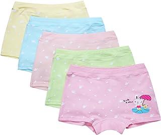 Ateid-Boxer Cotone Mutande Nella Casella (Pacco da 5) Bambina Ragazza 2-8 Anni