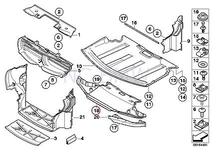 Amazon Com Bmw Genuine Front Engine Compartment Screening Automotive