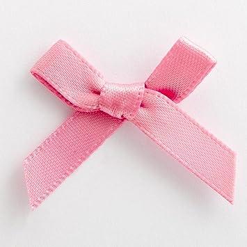 3cm Satin Bows - 100 Pack - 6mm Ribbon - Antique Pink  Amazon.co.uk ... 2bb73b60719