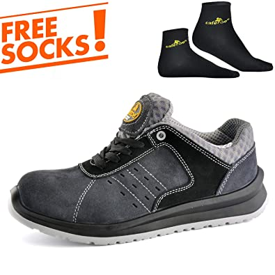 SAFETOE Comfort Wide Fit Safety Shoes - 7331 Man Light Weight Safety  Trainers with Composite Plastic Toe Cap 6b1de3cad6