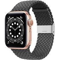 YGGFA Gevlochten Solo Band Compatibel met Voor Apple Watch 38mm 40mm 42mm 44mm, Zachte Stretch Loop met Verstelbare…