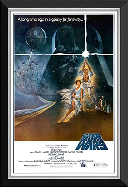 Star Wars Ep Iv A New Hope Lightsaber Vintage Movie Poster Framed Canvas At Amazon S Sports Collectibles Store
