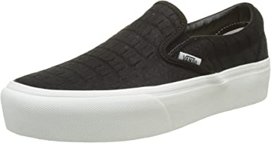 Baskets basses UA Classic Slip On Platform en cuir femme
