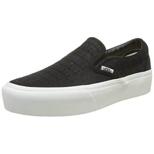 b32ddb679745 Vans Women s Classic Slip-on Platform Leather Trainers