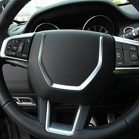 2PCS Steering Wheel ABS Chrome Decoration Cover Trim 3d Stickers Car Accessories Matte Silver