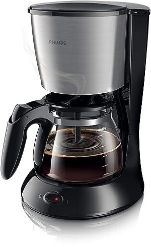Philips Hd7462/20 Kahve Makinesi, Cam Sürahi, Siyah, Metal