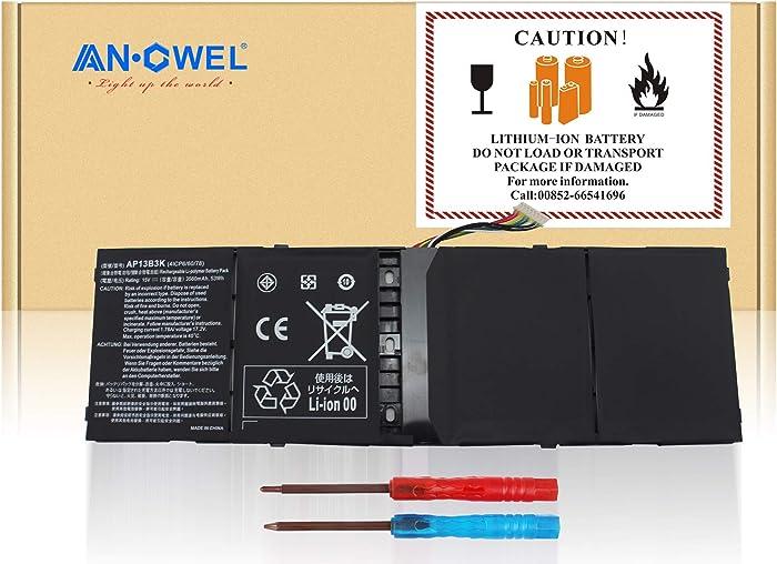 Angwel AP13B8K AP13B3K Laptop Battery for Acer Aspire V5-573 V5-573G V7-581 V7-582 R7-571 R7-571G M5-583 M5-583 [15V 53Wh]