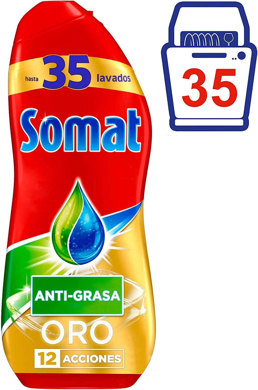 Somat Oro Detergente Gel Lavavajillas Antigrasa - 35 Lavados (630 ...