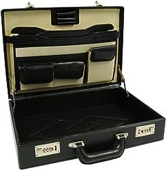 RoadPro HH-003PM BK Black Leatherlike Briefcase 81ac3e8220050