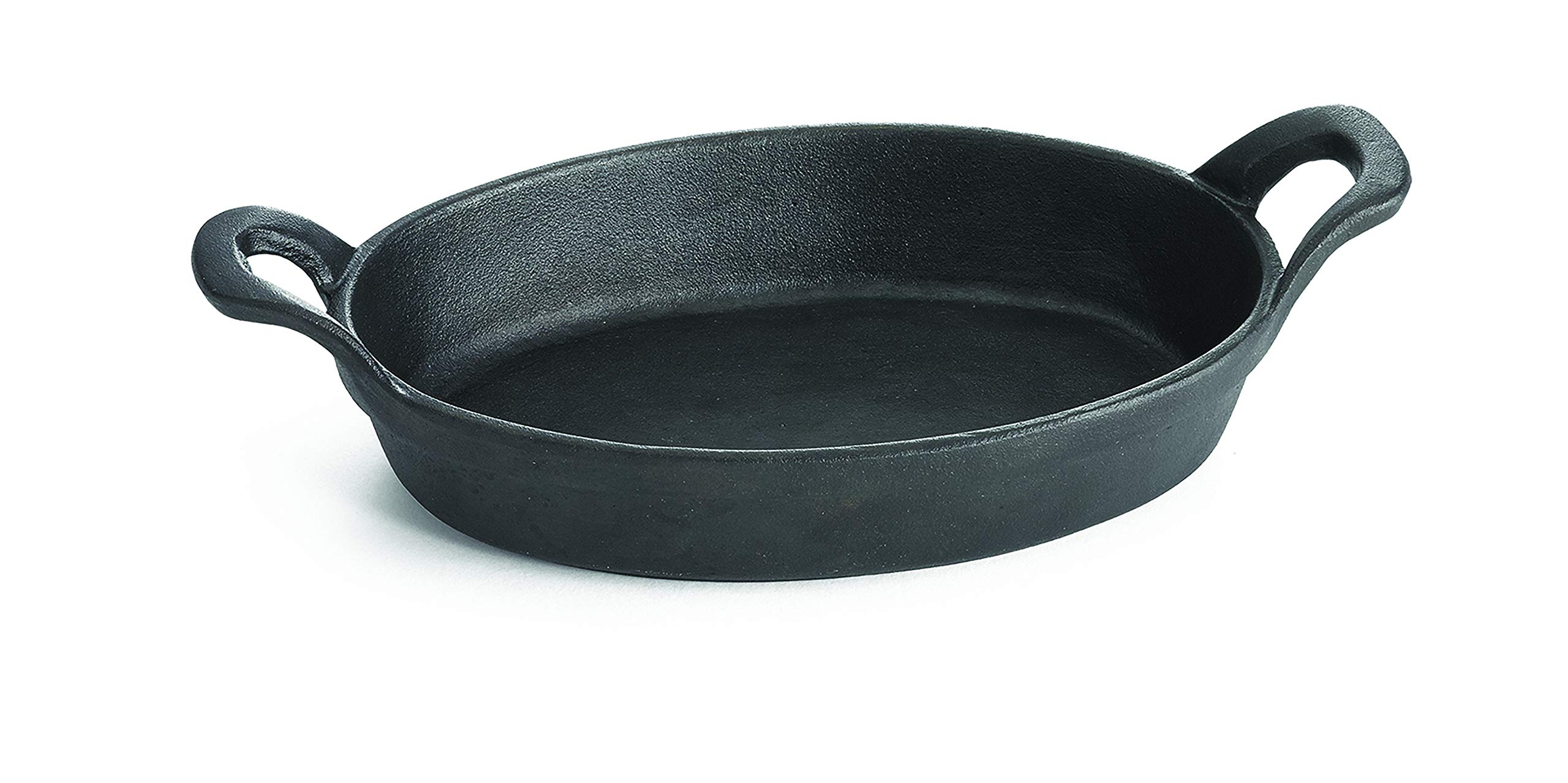 TableCraft CW30100 Mini Oval Au Gratin Cookware, 9 oz, Black by Tablecraft
