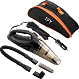 TFY 車用掃除機 カークリーナー 超強力吸引力 乾湿両用 ロング電源コード4.5m DC12V 収納バック付き ブラック