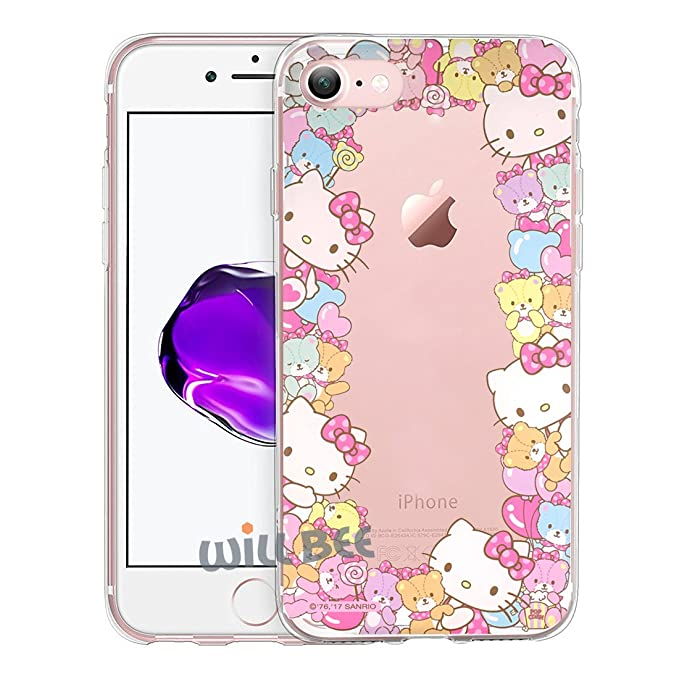quality design 9fb93 4e9ba iPhone SE/iPhone 5S / iPhone 5 Case Hello Kitty Cute Border Clear Jelly  Cover for [ Apple iPhone SE / 5S / 5 ] Case - Border Hello Kitty