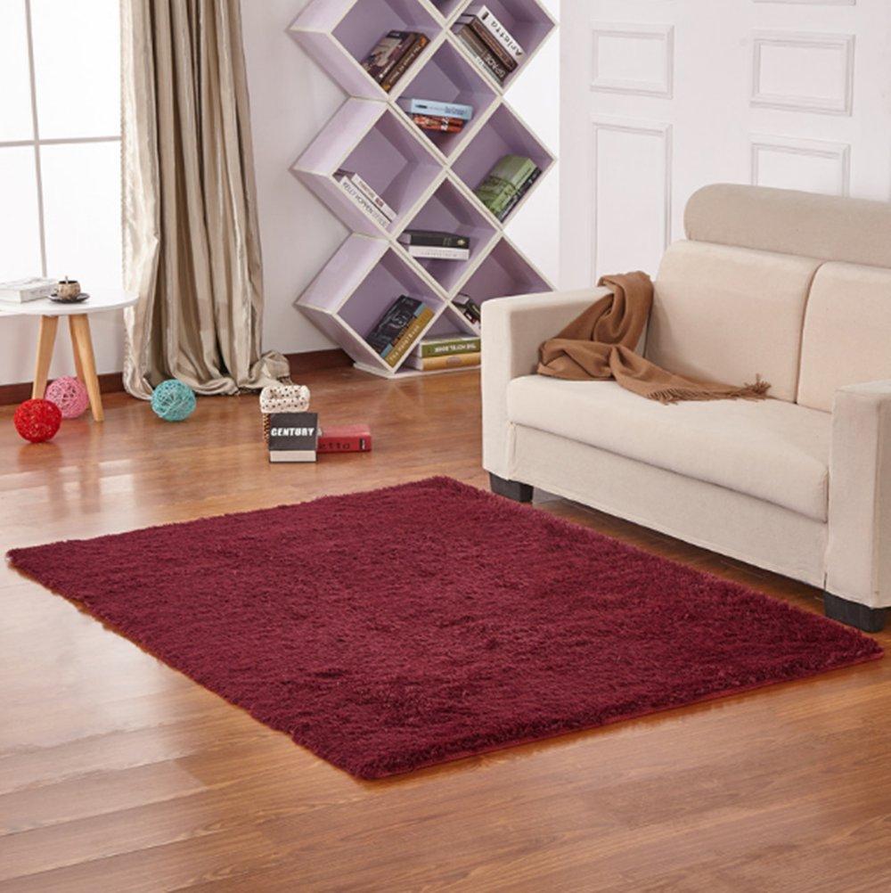 Yontree Anti Skid Living Room Soft Carpets Floor Mat Shaggy Area Rug Karpet Premium 160x230 Turkiye Silver Gray Kitchen Home