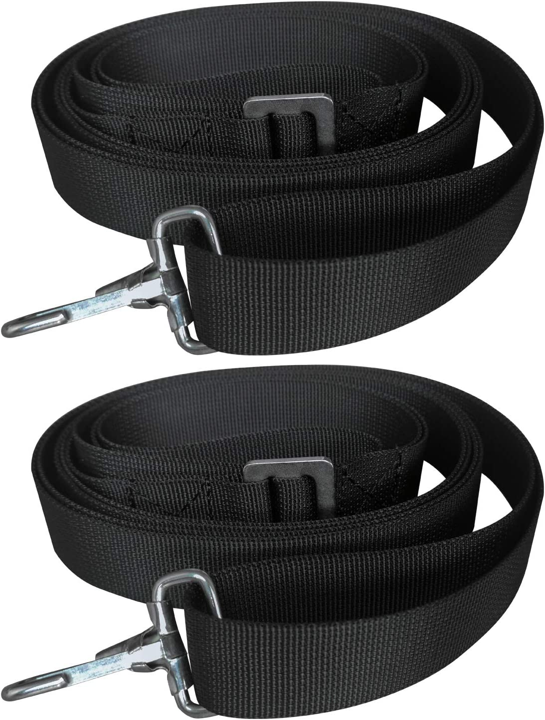 28~60 Stainless Steel Boat Vtete 2 PCS Adjustable Bimini Boat Awning Hardware Top Straps with Loops and Single Snap Hook