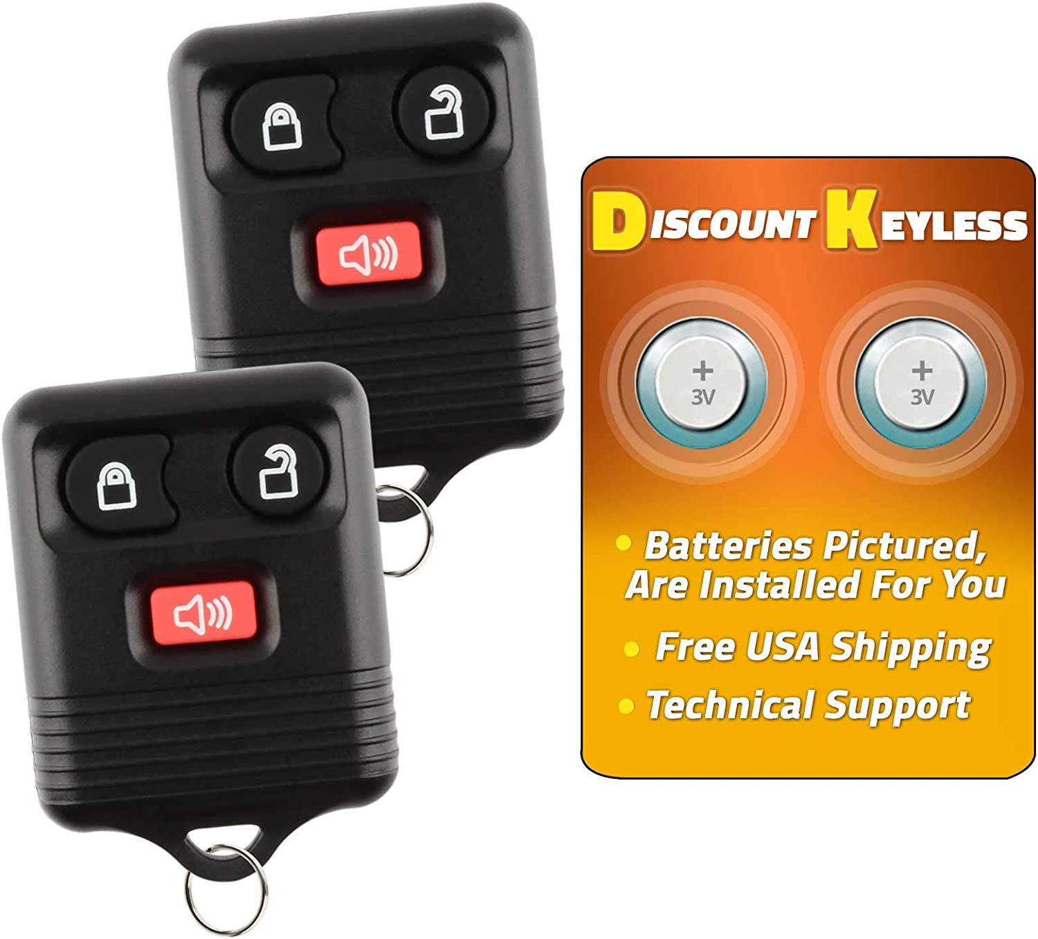 YITAMOTOR 2 New Car Key Fob Keyless Entry Remote Control 4 Button for CWTWB1U212 CWTWB1U331 CWTWB1U345 GQ43VT11T