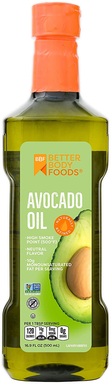 BetterBody Foods 100% Pure Avocado öl Naturally Refined Cooking öl Non-GMO 16.9 Ounce Keto & Paleo