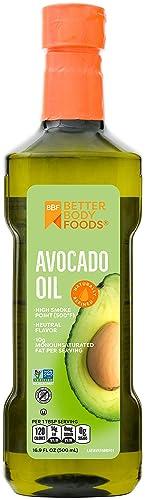 BetterBody Foods Olej z awokado, rafinowany olej do gotowania niemodyfikowany genetycznie