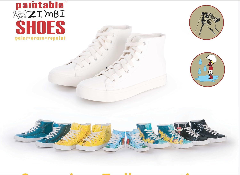e5e9bd1d3de94 DIY Peinture sur Sneakers kit de Chaussures pour Hommes. Neuf à Peindre  Sneakers Chaussures. Dessiner sur Sneakers Chaussures avec effaçable  Couleurs de ...